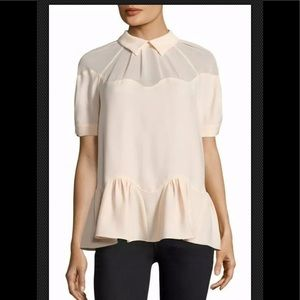 Opening Ceremony Short Sleeve Blouse Top Pink  6